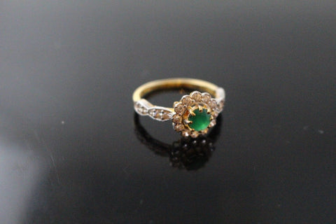 "22k 22ct Solid Gold ELEGANT Antique Ladies Stone Ring SIZE 6.5 ""RESIZABLE"" r1544 - Royal Dubai Jewellers"