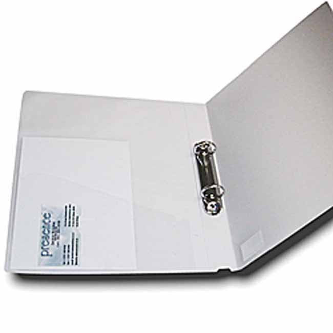 Frosted white A4 2 ring binder file