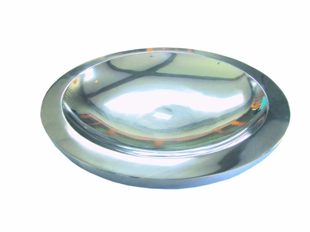Aluminium double wall round server (small), Table - Presence