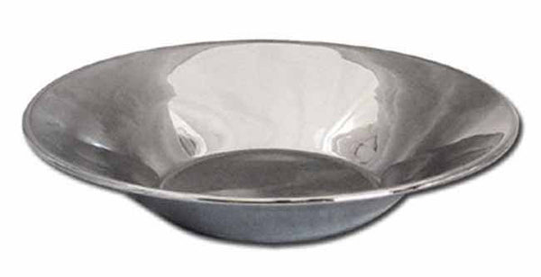 Nickel plated brass round bowl 'classic' (41cm)