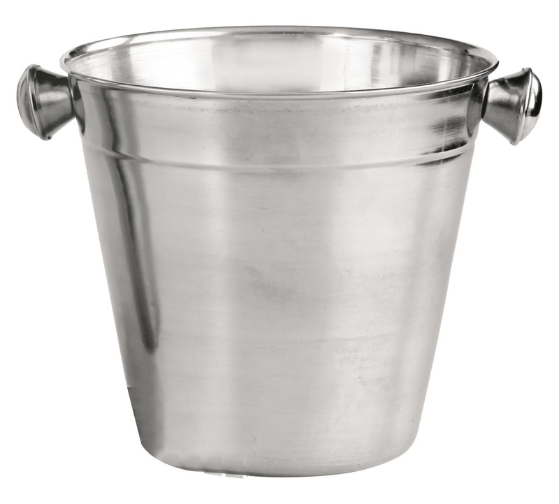 Stainless steel two tone ice bucket with grip handles