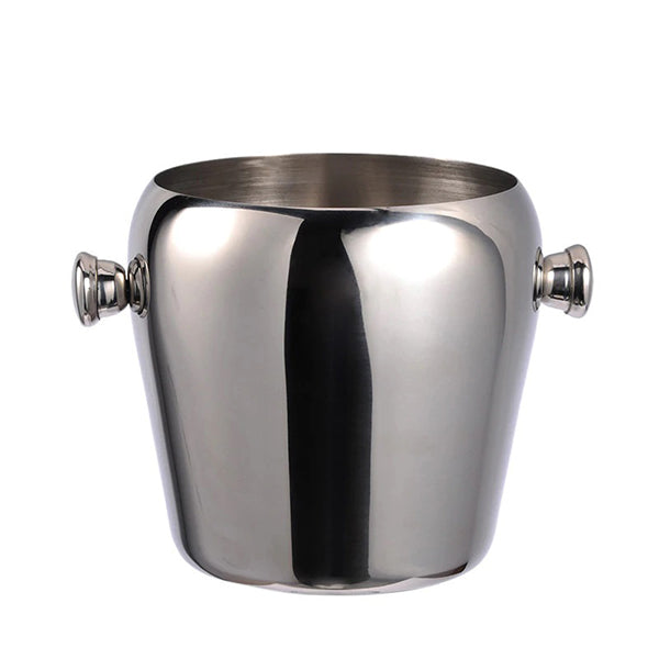 Stainless steel heavy duty ice bucket with handles