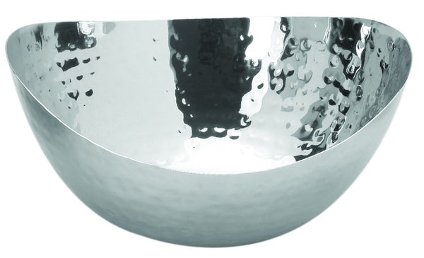 Stainless steel oval bowl 'beaten' (14cm)