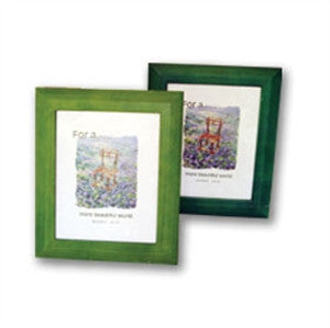 Frame 8x10 wood blue/natural/green