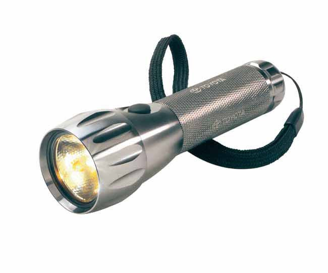 Aluminium LED torch titanium with strap and pouch, Torches And Lanterns - Presence