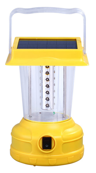 Yellow rechargeable lantern with 28 super bright LED bulbs