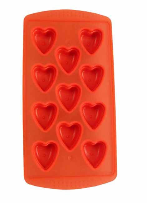 Red 'hearts' ice cube tray
