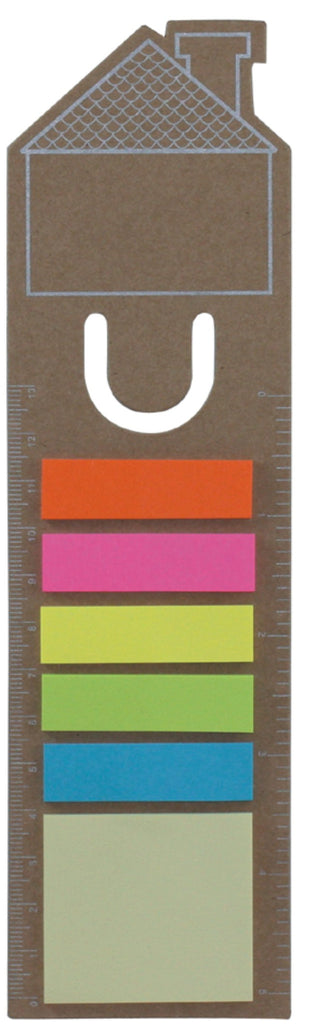 3-in-1 bookmark with sticky notes and ruler 'home', Office - Presence