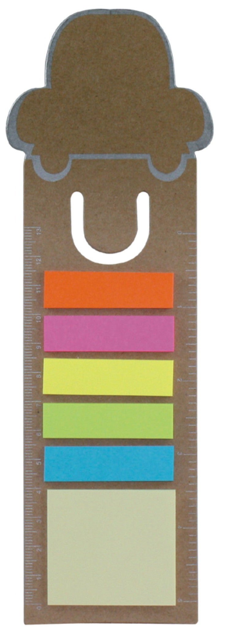 3-in-1 bookmark with sticky notes and ruler 'car', Office - Presence