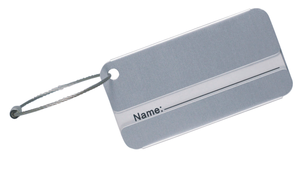 Aluminium luggage tag, Travel - Presence