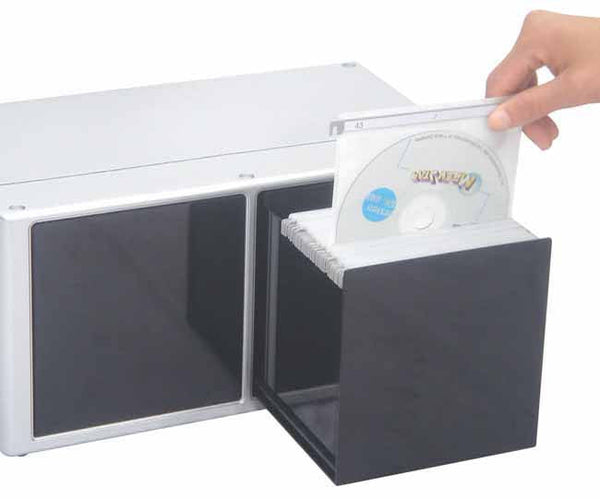 Silver deluxe CD box 'smoked glass' (holds 120 CD's)