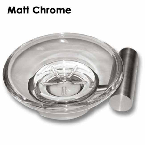 Matt chrome wall mounted soap dish