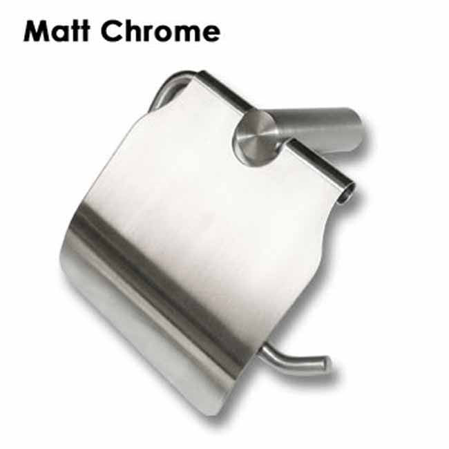 Matt chrome wall mounted toilet roll holder