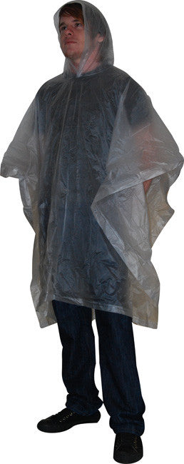 Frosted PVC poncho (one size)