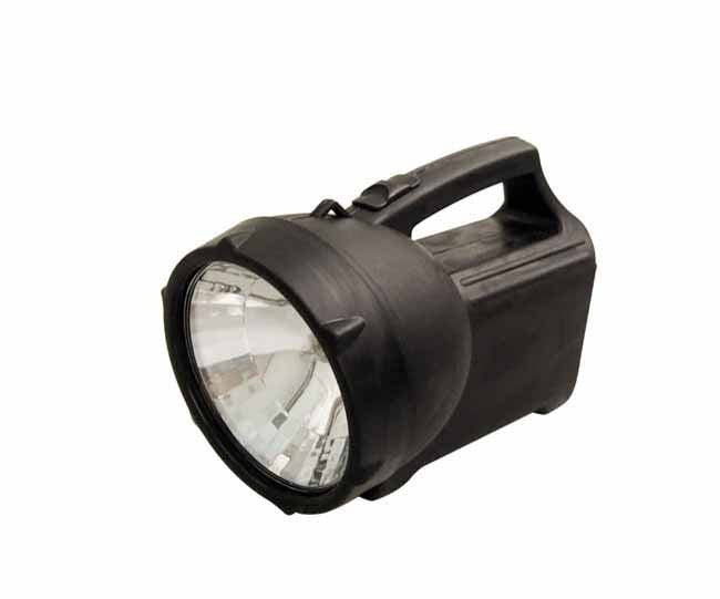 Black large spotlight torch with carry handle (batteries not included), Torches And Lanterns - Presence