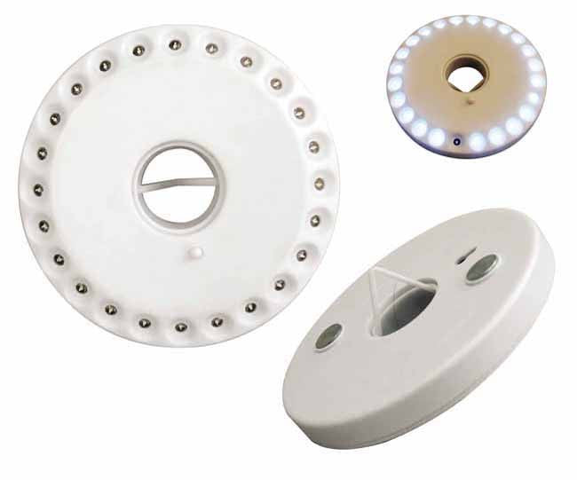 White round multi-function LED light (24 bulbs) (batteries included)