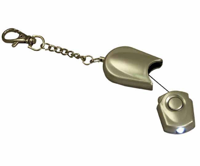 Silver extendable torch keyring