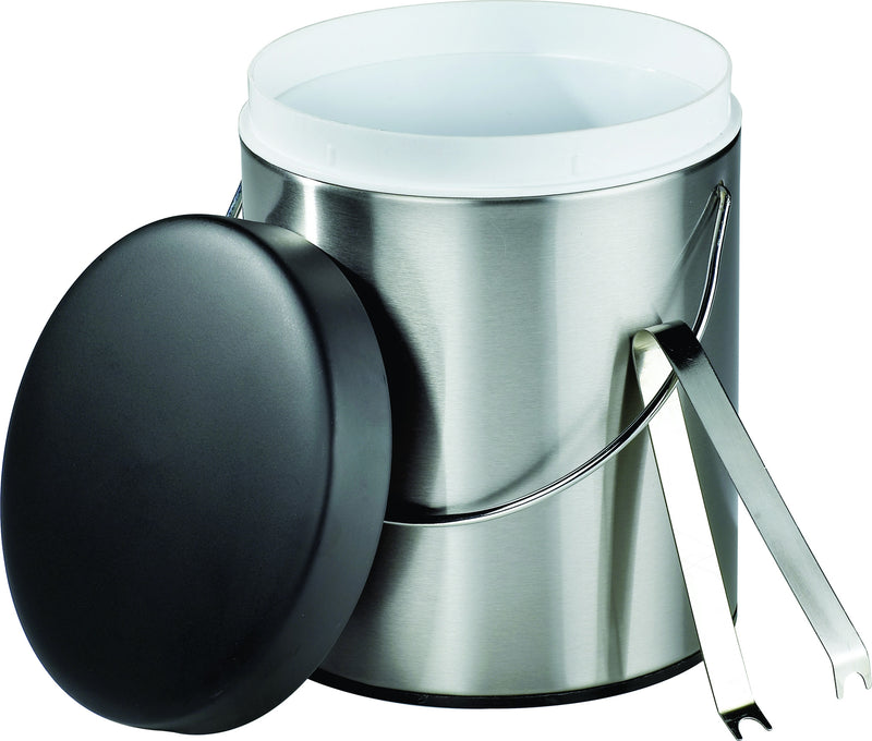 Stainless steel and black ice bucket (3L)