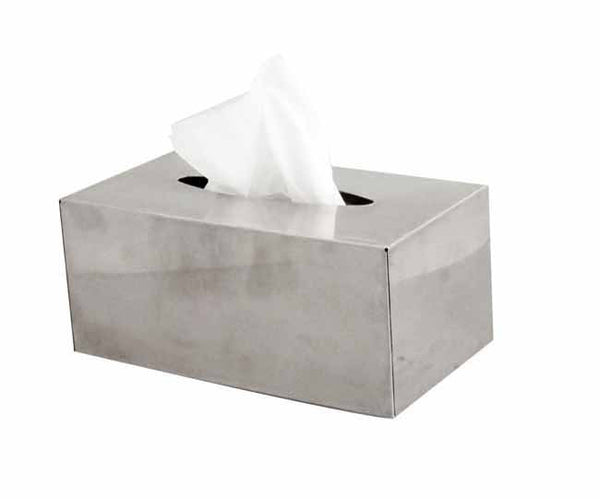 Stainless steel shiny finish wall mounted tissue box cover (for 200 tissues)