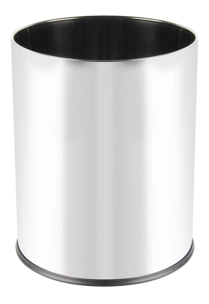 Stainless steel round mirror finish bin (3L)