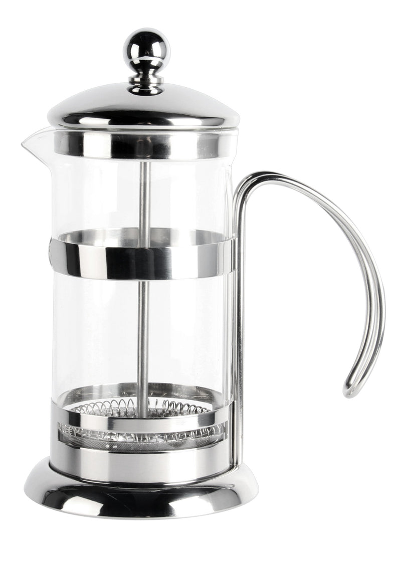 Stainless steel mirror finish and glass coffee plunger (300ml)