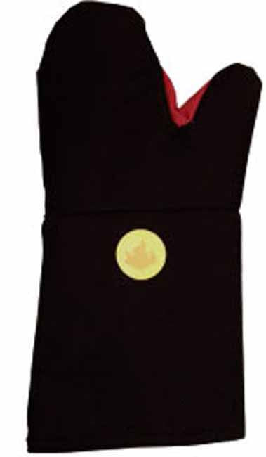Black oven glove with heat detector, Leisure - Presence
