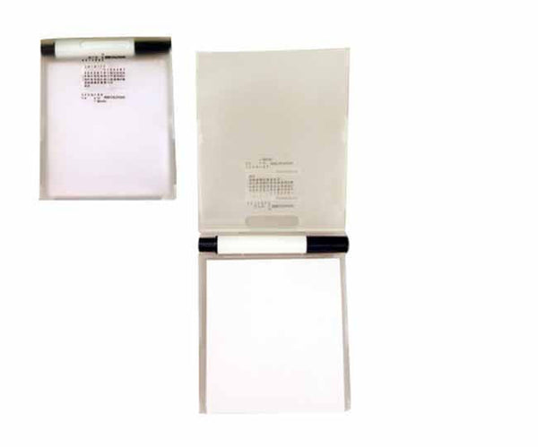 White notebook with pen and calendar