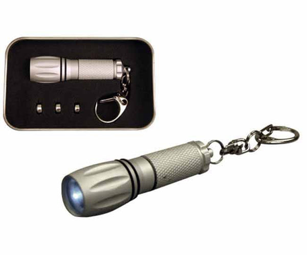 Aluminium LED torch keyring in presentation tin, Torches And Lanterns - Presence
