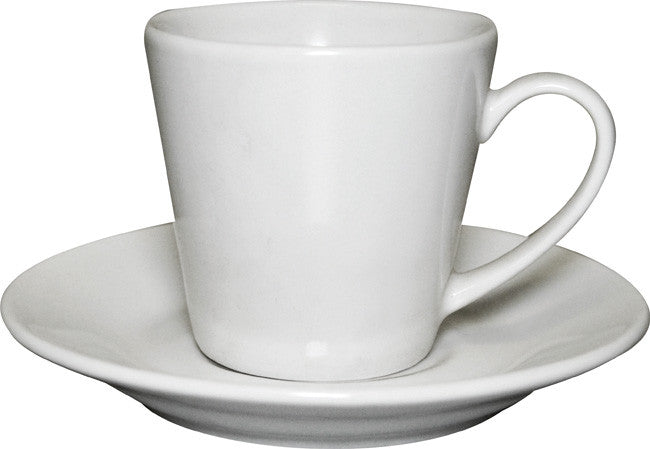 12pc white espresso cup and saucer set bulk packed, Tea And Coffee - Presence