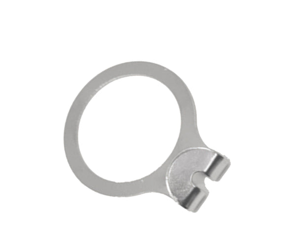 Silver anti-theft hanger security ring