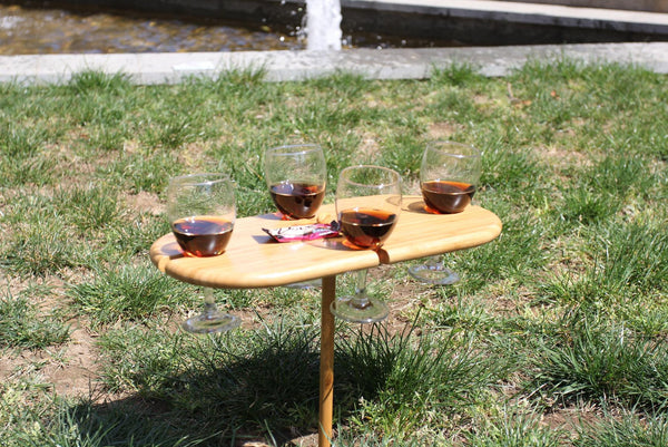 4 person portable bamboo wine table, Picnic And Beach - Presence