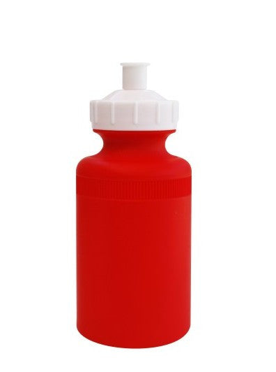 Red water bottle with white cap (400ml)