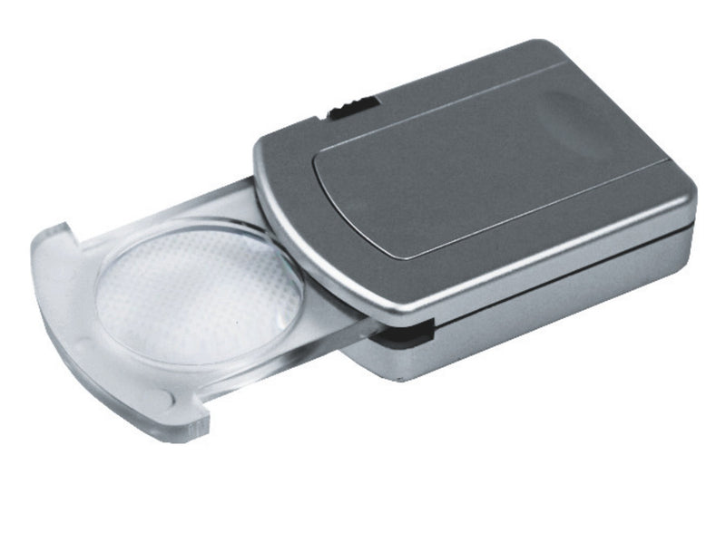 Silver double magnifier with light