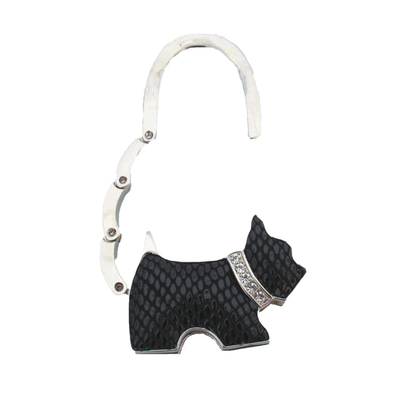 Black patent and chrome bling handbag holder 'dog' shape in PVC box, Ladies General - Presence