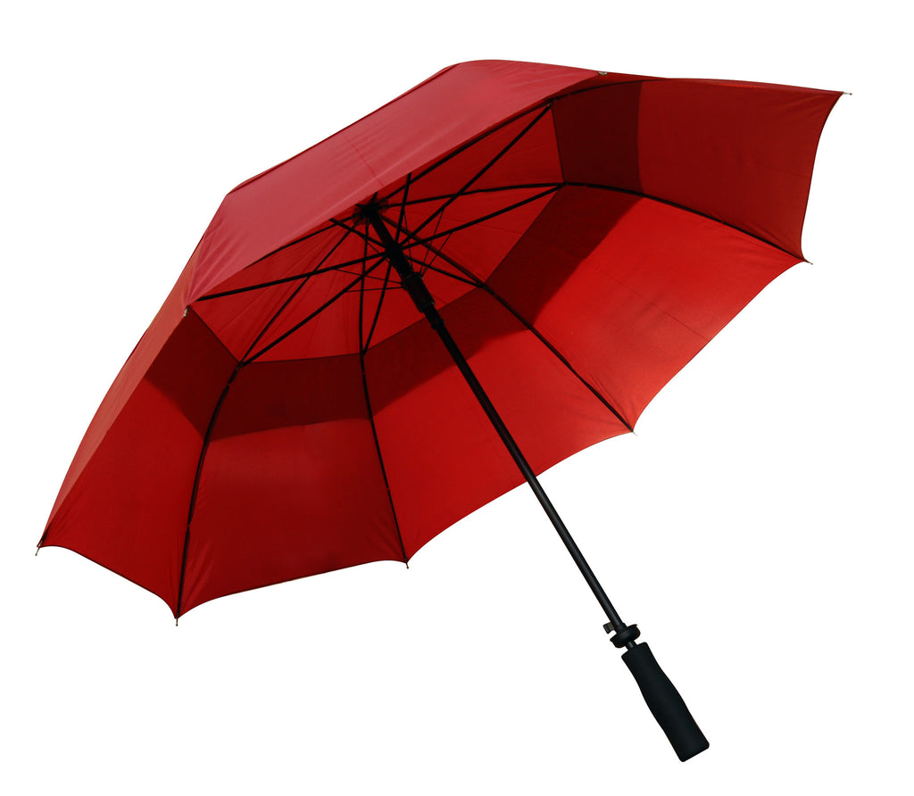 Burgundy windproof auto-open umbrella