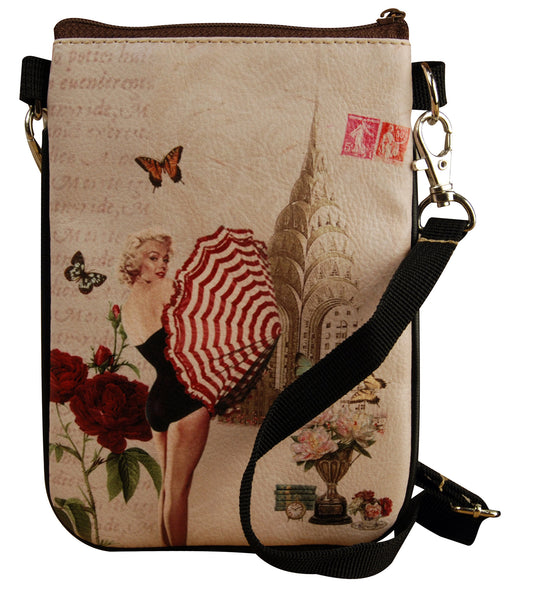 Ladies shoulder bag with strap