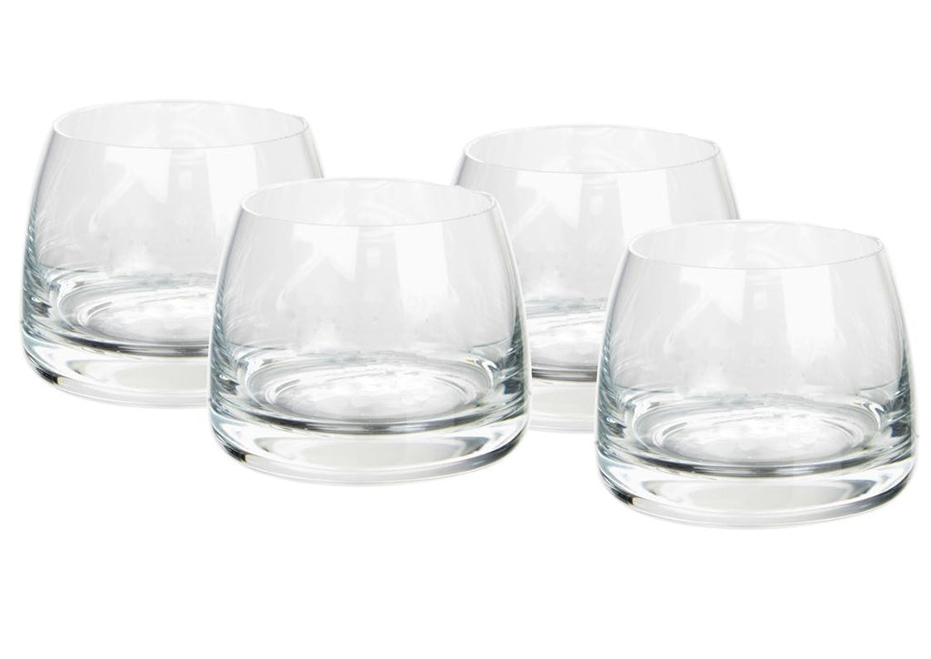 Clear whisky glasses (set of 4)