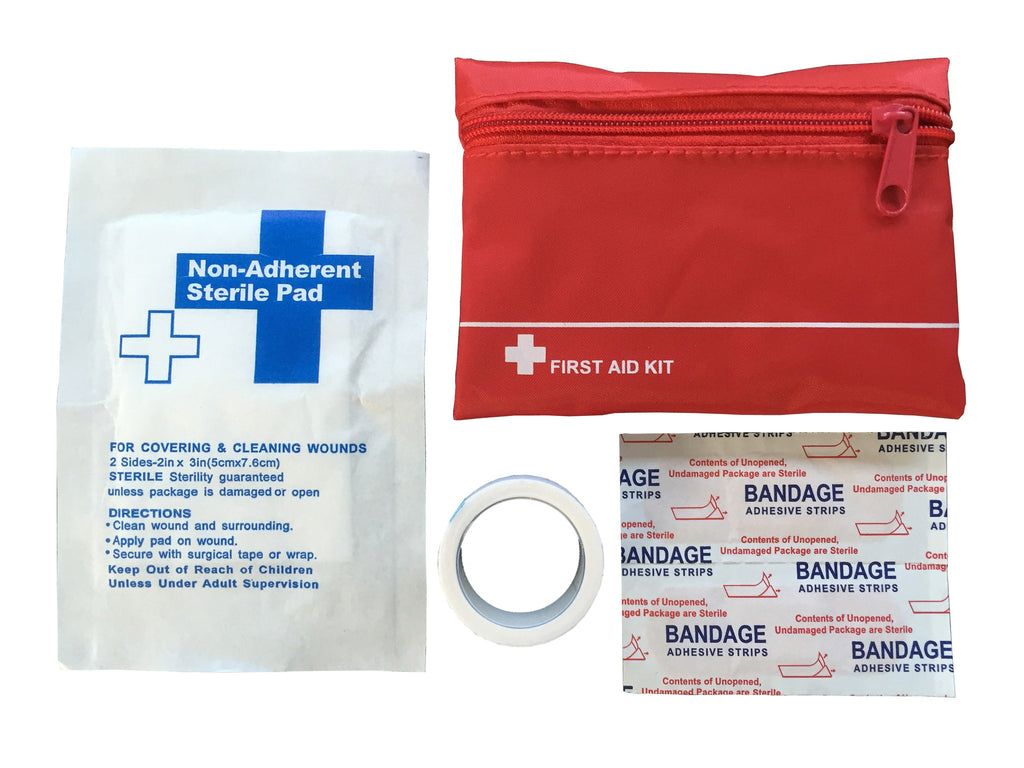 Mini emergency first aid kit in nylon bag