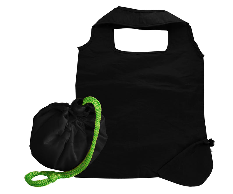 Black foldaway shopping bag