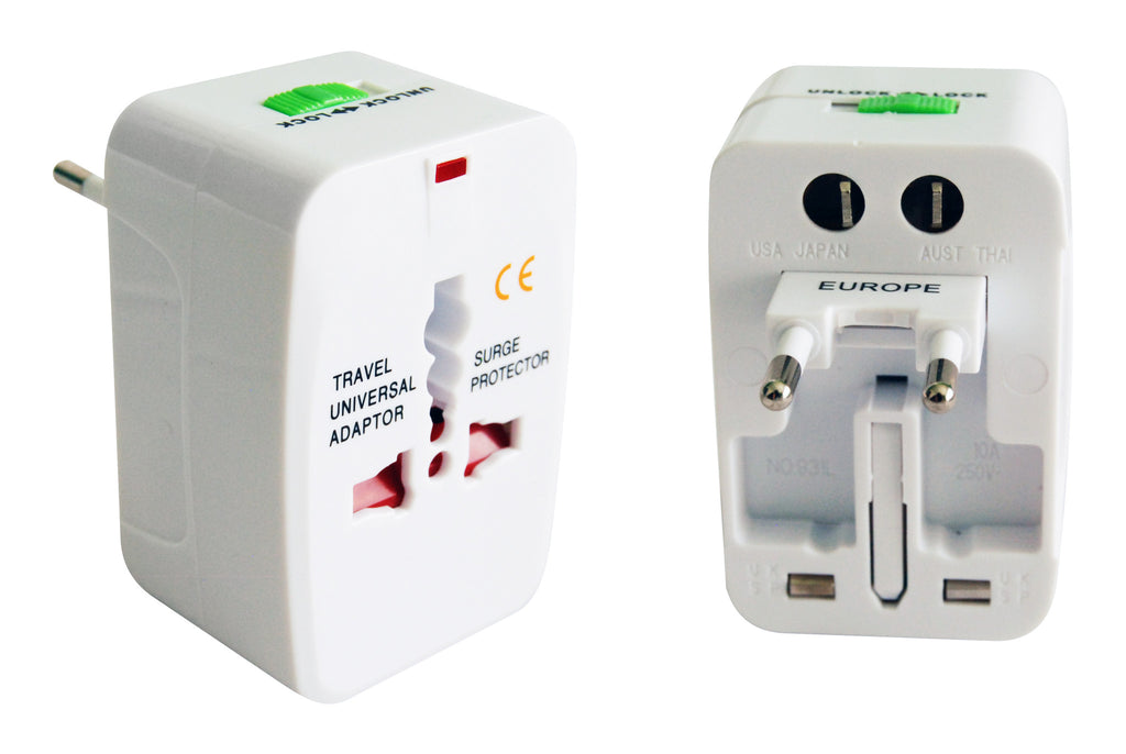 White multi adaptor (for international use)