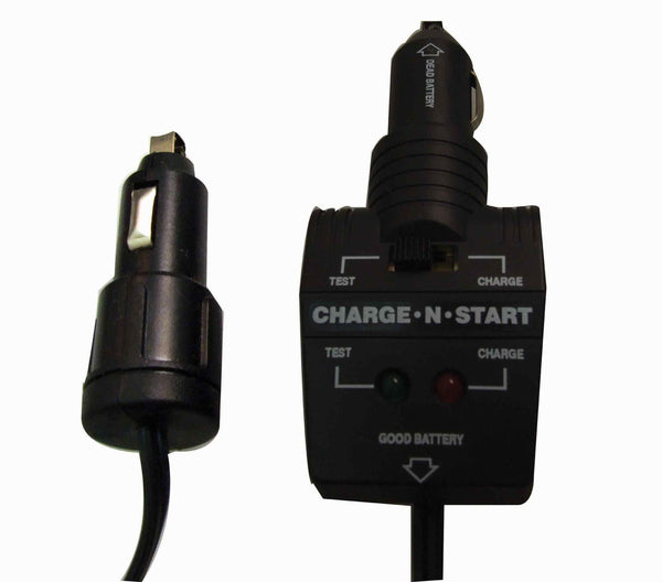 Black charge and start car charger