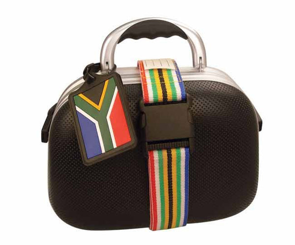 SA luggage tag and strap set