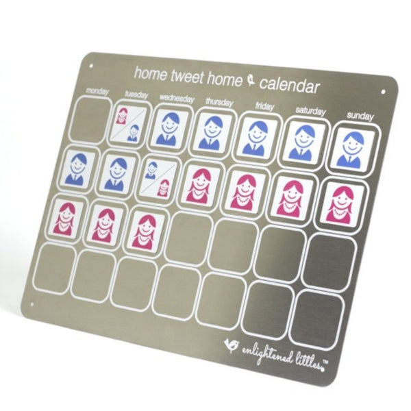"""Home Tweet Home"" Parenting Time Calendar - Enlightened Littles, Inc.  - 1"