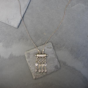 Silver Haze Fringe Necklace - Blunted Objects