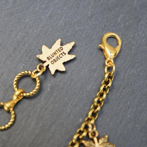Peace and Pot Charm Bracelet (Gold) - Blunted Objects
