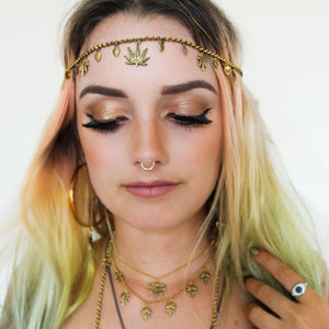 Boho Heady Headchain (Gold) - Blunted Objects