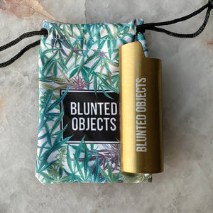 Blunted Objects Logo Lighter Case - Gold