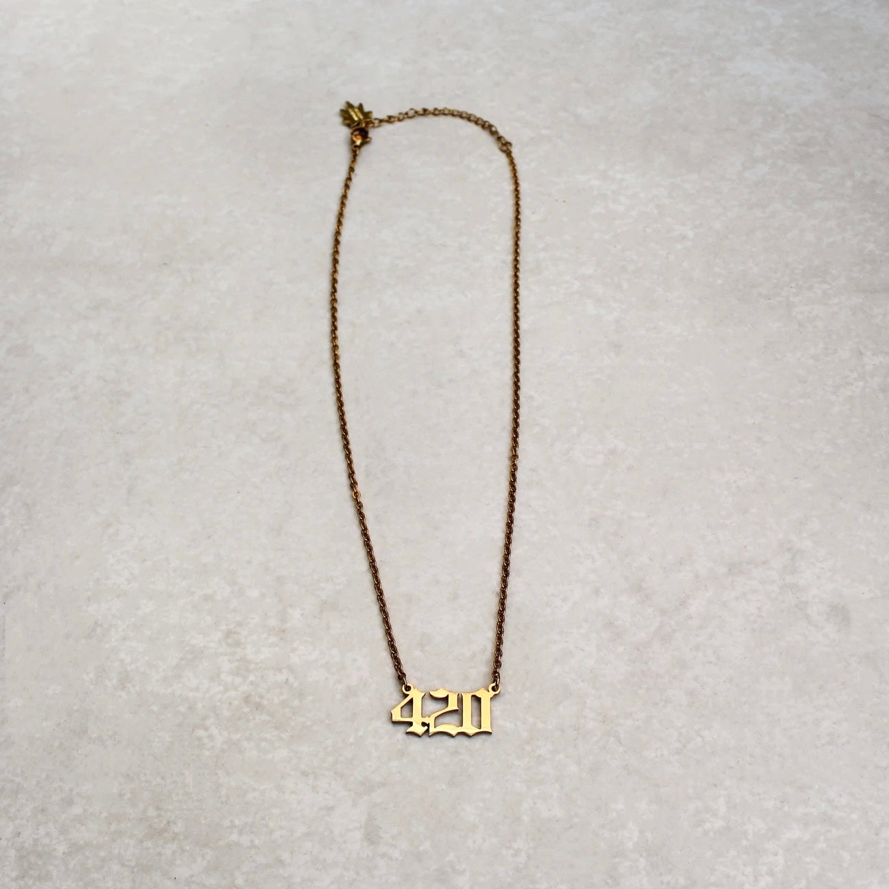 420 Statement Necklace - Gold