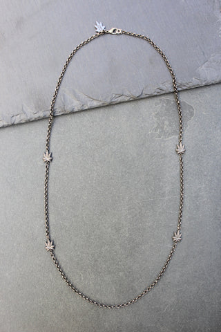 Chronically Ill Leafs Necklace (Gunmetal)