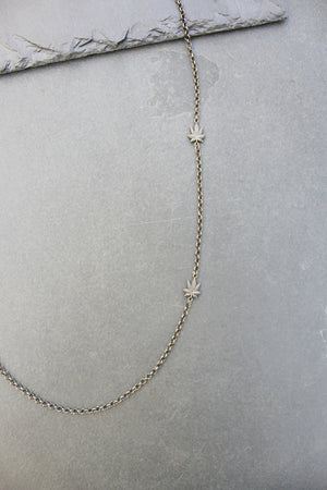 Chronically Ill Leafs Necklace (Gunmetal) - Blunted Objects